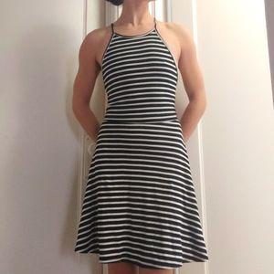 Open back striped dress